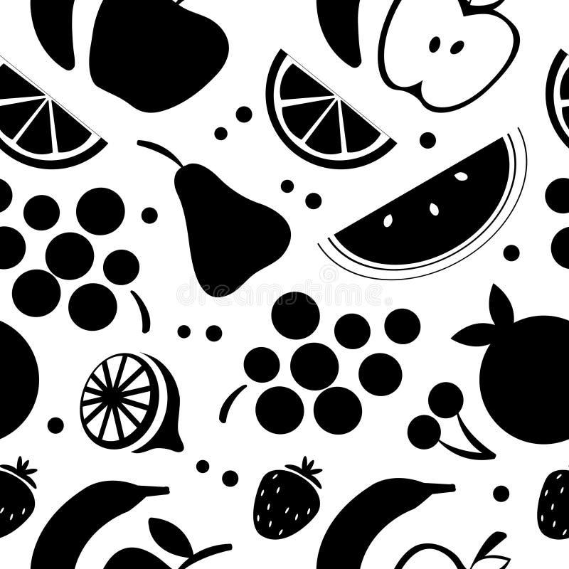 Reticolo senza giunte della frutta illustrazione vettoriale