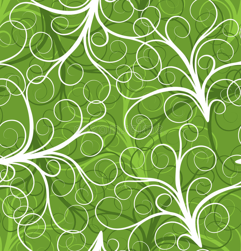Reticolo senza giunte della pianta, vettore illustrazione di stock