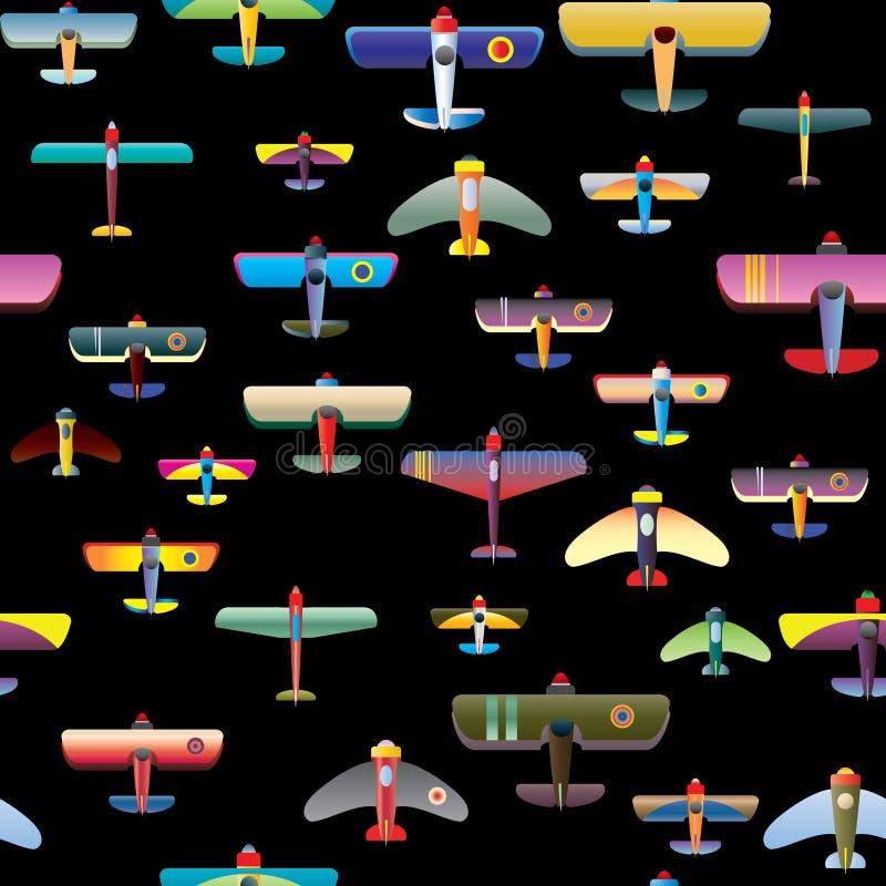 Reticolo senza giunte della priorità bassa dei velivoli illustrazione di stock