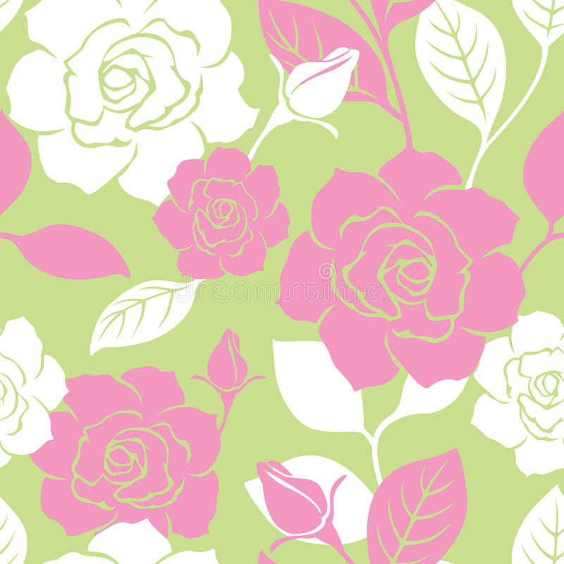 Reticolo senza giunte della Rosa del giardino royalty illustrazione gratis