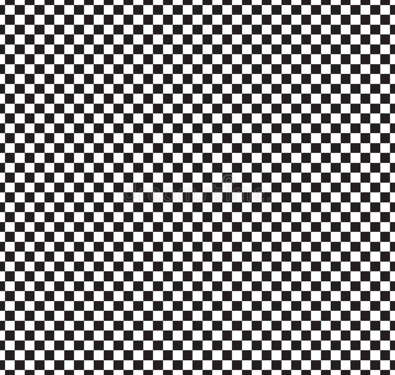 Reticolo senza giunte della scacchiera Estratto in bianco e nero, fondo infinito geometrico Struttura di ripetizione quadrata mod illustrazione di stock