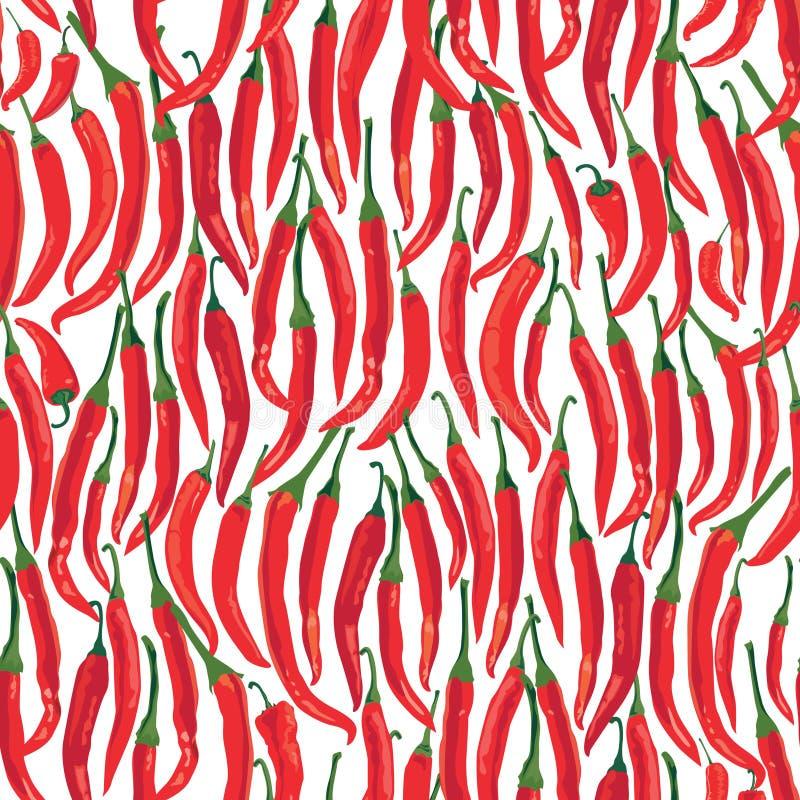 Reticolo senza giunte della spezia con pepe freddo caldo illustrazione di stock