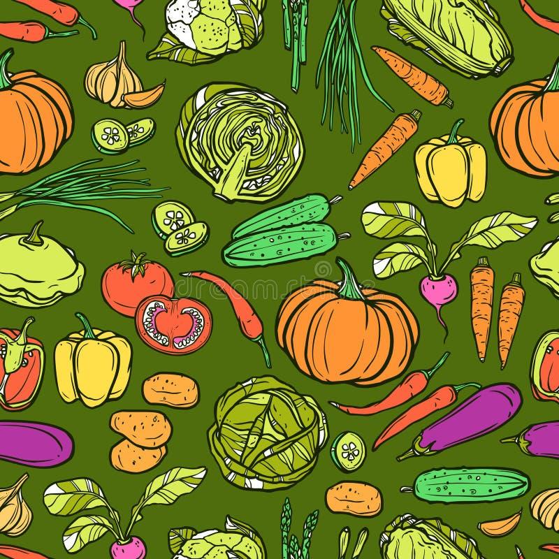 Reticolo senza giunte delle verdure royalty illustrazione gratis