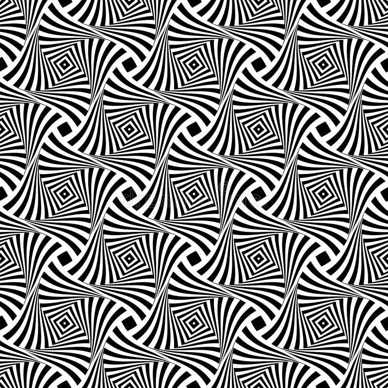 Reticolo senza giunte di arte op Linee astratte struttura illustrazione vettoriale
