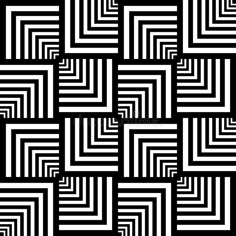 Reticolo senza giunte di arte op. Struttura geometrica. royalty illustrazione gratis