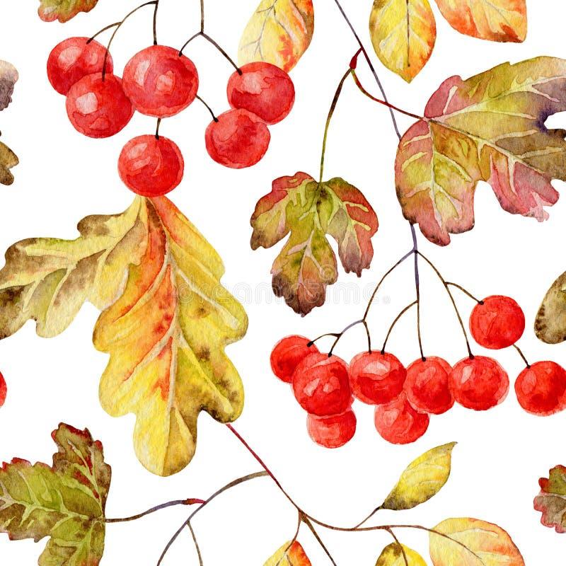 Reticolo senza giunte di autunno illustrazione vettoriale