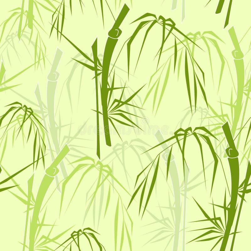 Reticolo senza giunte di bambù illustrazione vettoriale