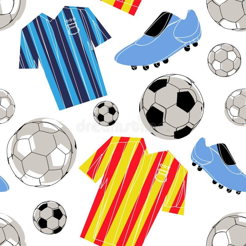 Reticolo senza giunte di calcio illustrazione vettoriale
