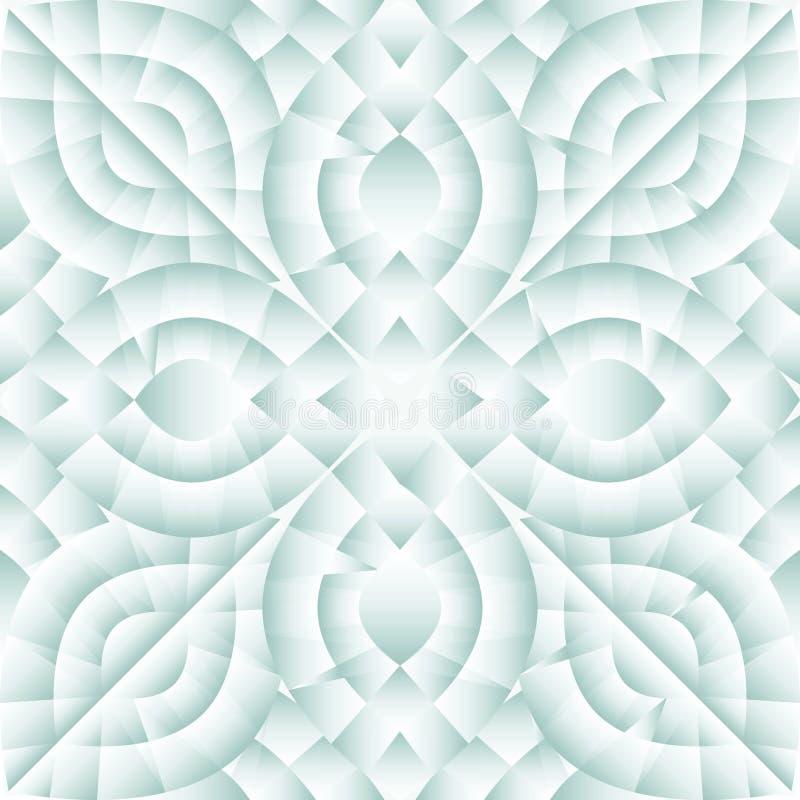 Reticolo senza giunte di cristallo illustrazione vettoriale
