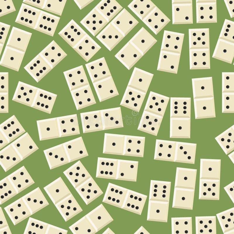 Reticolo senza giunte di domino illustrazione di stock