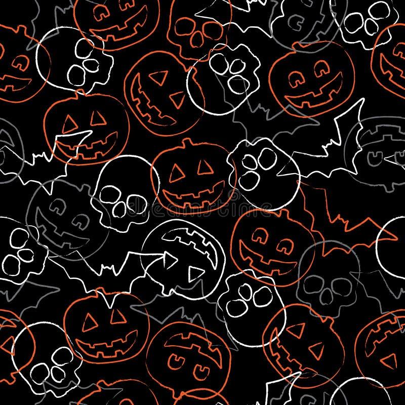 Reticolo senza giunte di Halloween royalty illustrazione gratis
