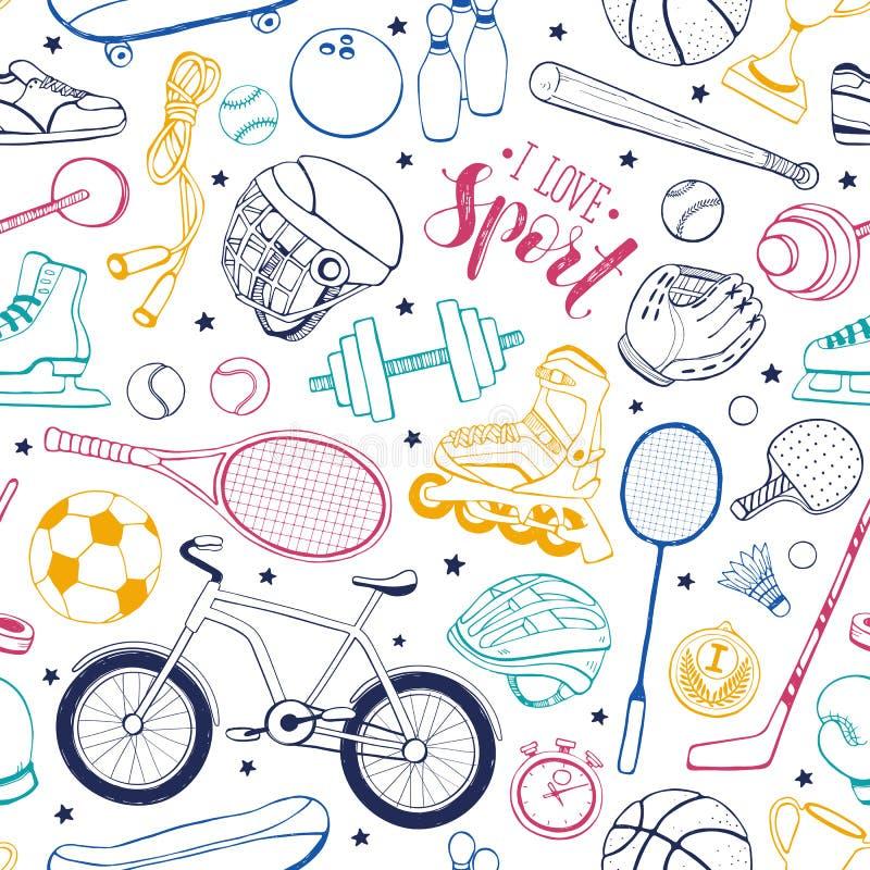 Reticolo senza giunte di sport illustrazione di stock