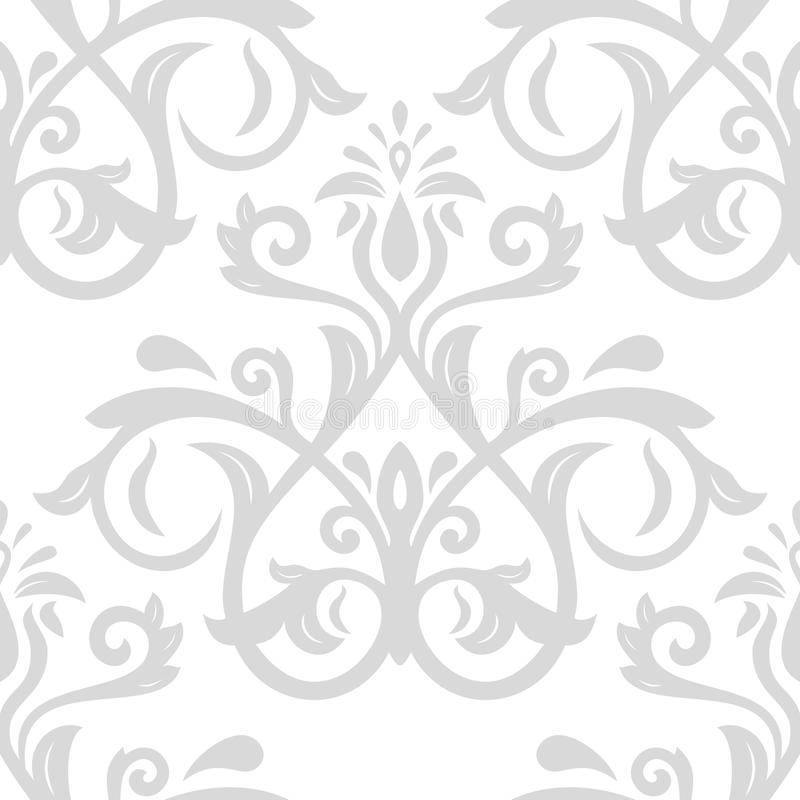 Reticolo senza giunte di vettore del damasco illustrazione vettoriale