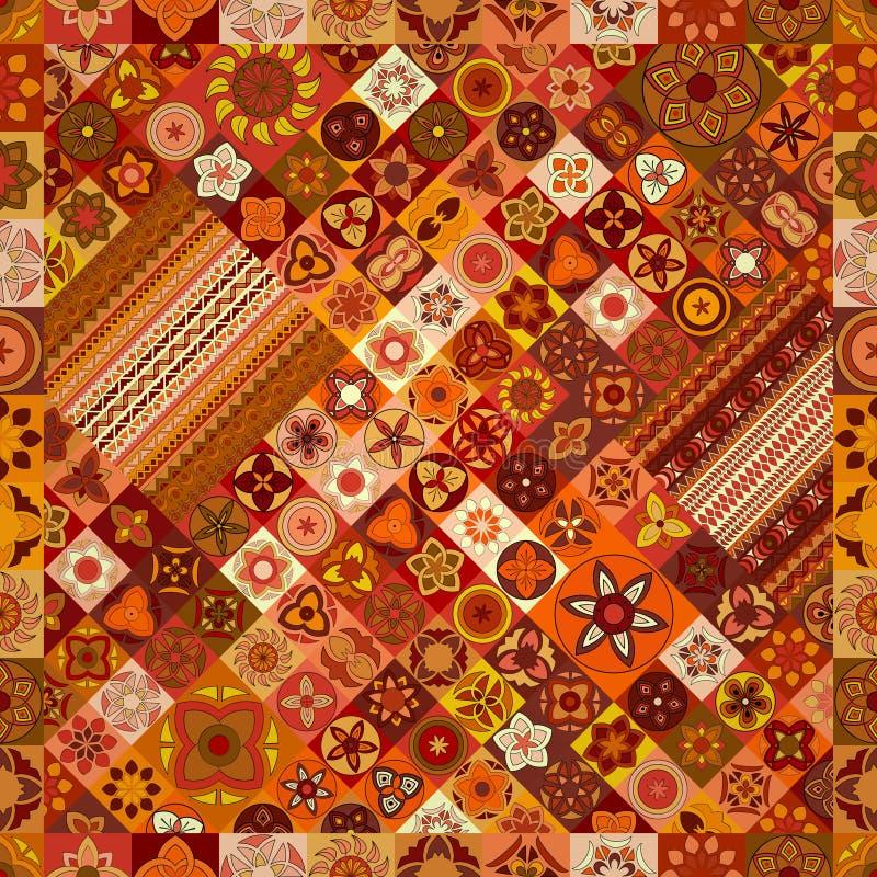 Reticolo senza giunte Elementi decorativi dell'annata Fondo disegnato a mano Islam, arabo, indiano, motivi dell'ottomano immagini stock libere da diritti