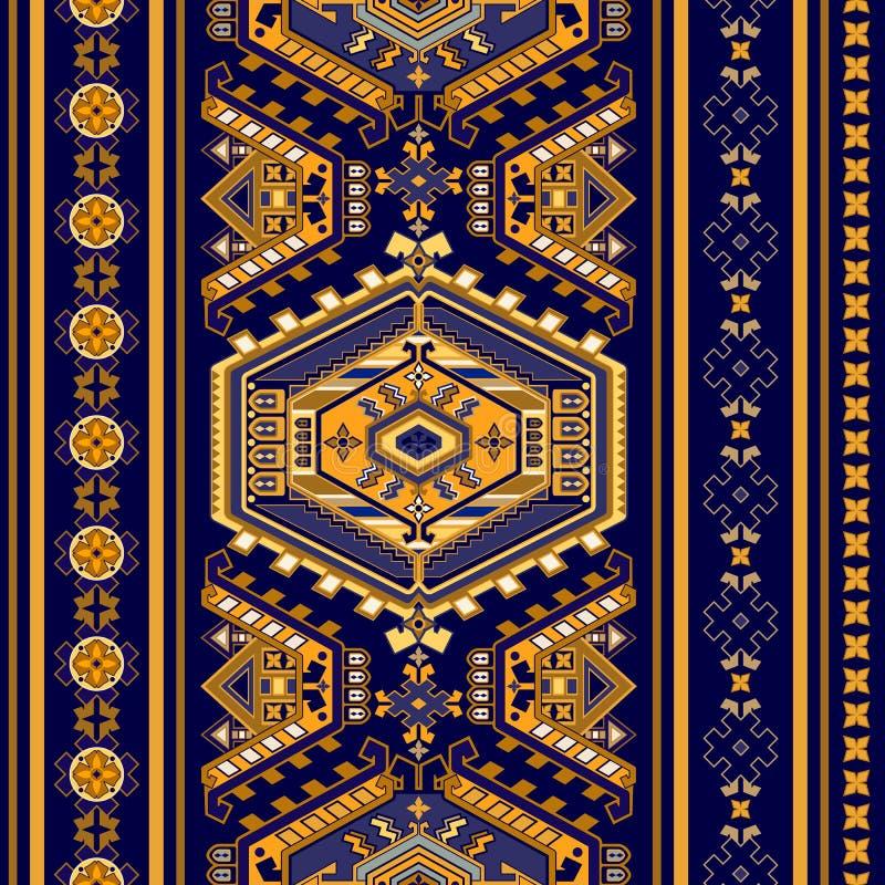 Reticolo senza giunte etnico Bordo decorativo royalty illustrazione gratis