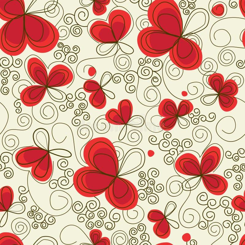 Reticolo senza giunte floreale illustrazione vettoriale