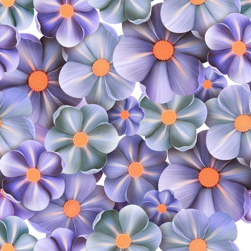 Reticolo senza giunte floreale di estate Priorit? bassa del fiore illustrazione vettoriale