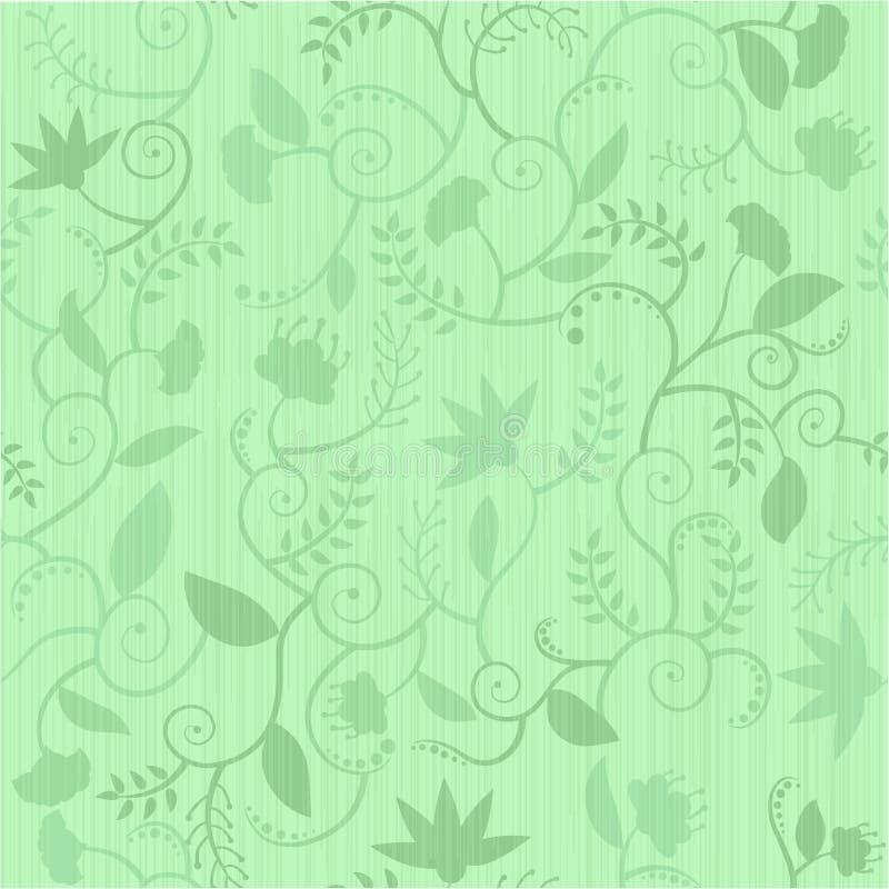 Reticolo senza giunte floreale verde royalty illustrazione gratis