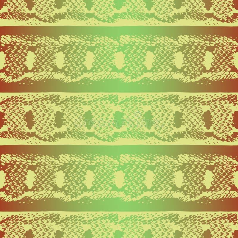 Reticolo senza giunte Fondo con una struttura della pelle di serpente royalty illustrazione gratis