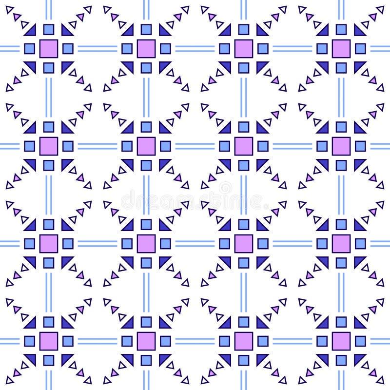 Reticolo senza giunte Fondo geometrico astratto azteco Stile etnico dei pantaloni a vita bassa llustration illustrazione vettoriale