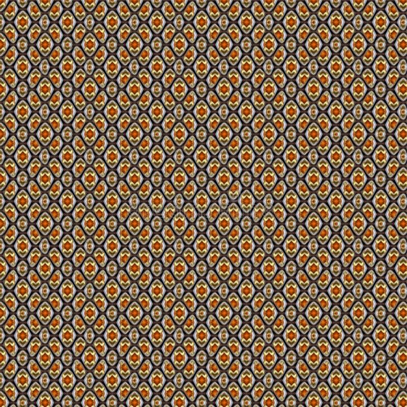 Reticolo senza giunte fondo a quadretti geometrico con il rombo Modello senza cuciture astratto di piccolo e grande rombo Alla mo royalty illustrazione gratis