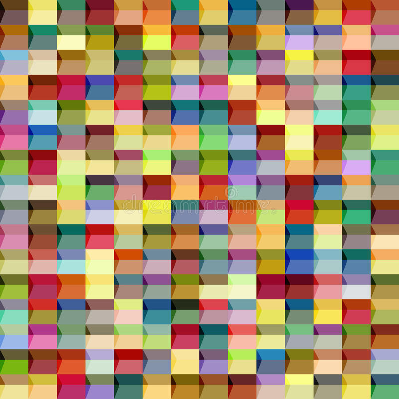Reticolo senza giunte geometrico astratto Grafico di modo Progettazione del fondo Struttura variopinta alla moda moderna Illustra illustrazione vettoriale