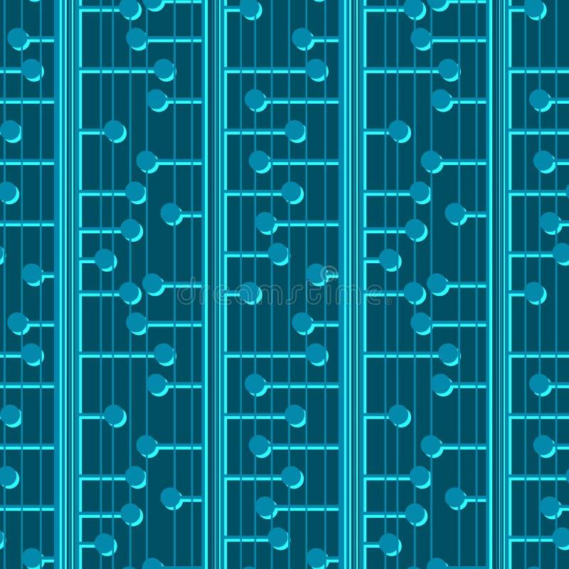 Reticolo senza giunte geometrico astratto Ornamento blu scuro punteggiato di vettore per il tessuto, carta da imballaggio, tessut royalty illustrazione gratis