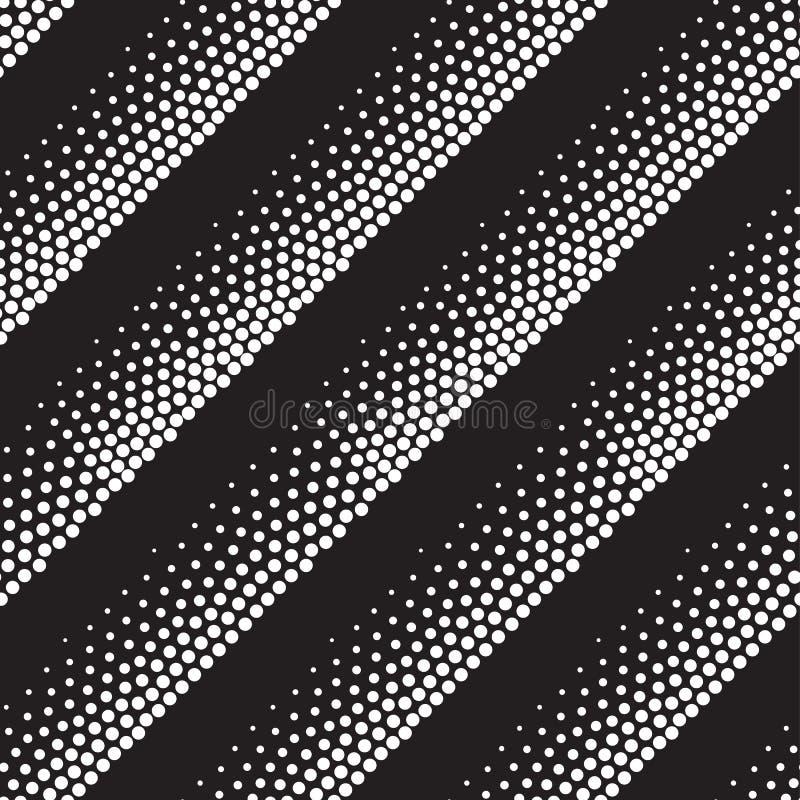 Reticolo senza giunte geometrico di vettore Ripetizione dei punti astratti illustrazione vettoriale