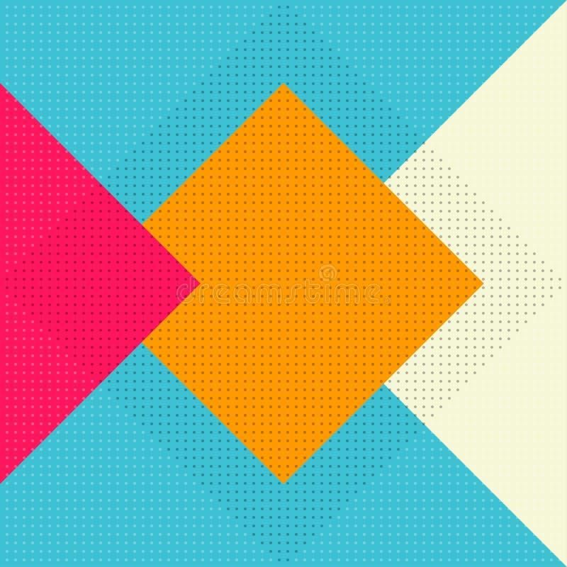 Reticolo senza giunte geometrico di vettore struttura alla moda moderna illustrazione vettoriale