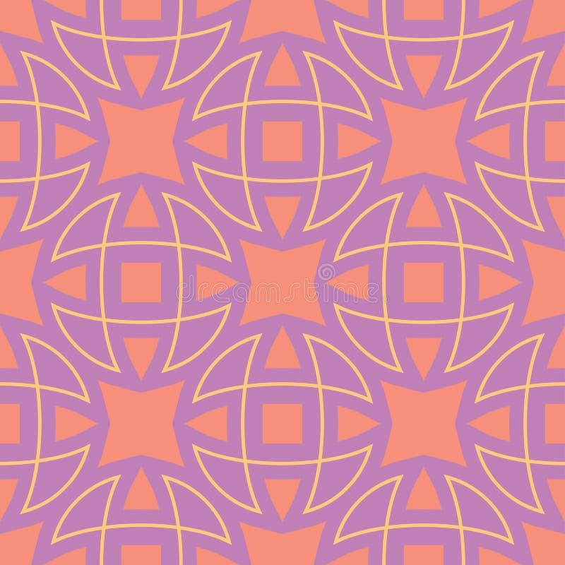 reticolo senza giunte geometrico Fondo viola colorato luminoso illustrazione di stock