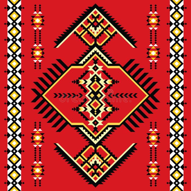 Reticolo senza giunte indiano Kilim tribale illustrazione di stock