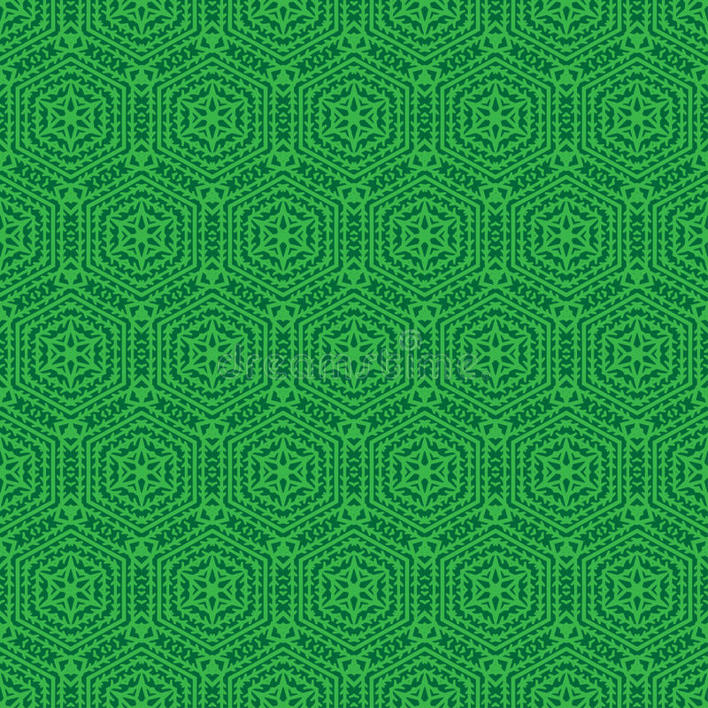 Reticolo senza giunte ornamentale Illustrazione di vettore Forma di esagono Fondo di griglia Progettazione geometrica Struttura a royalty illustrazione gratis