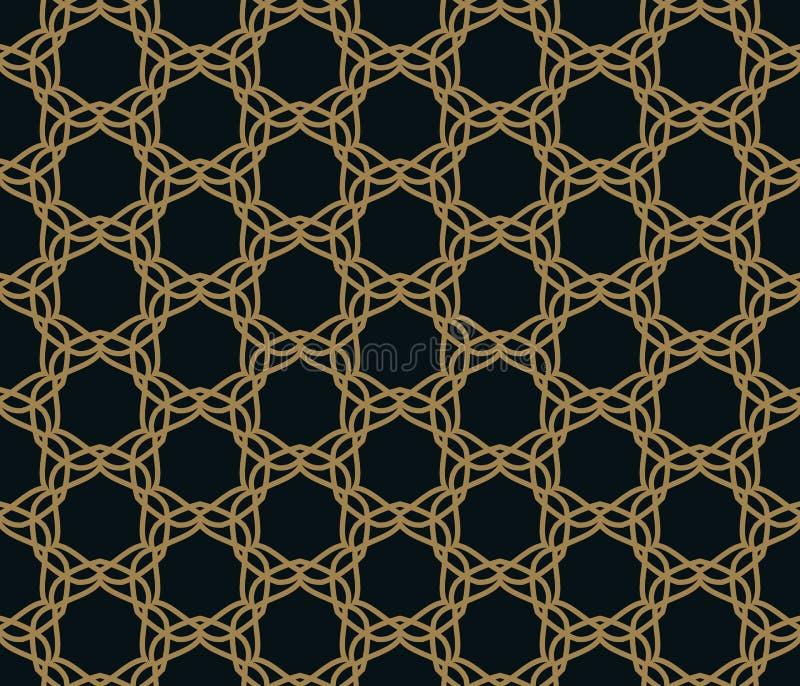 Reticolo senza giunte Ornamento lineare elegante Fondo alla moda geometrico Vettore che ripete struttura illustrazione vettoriale