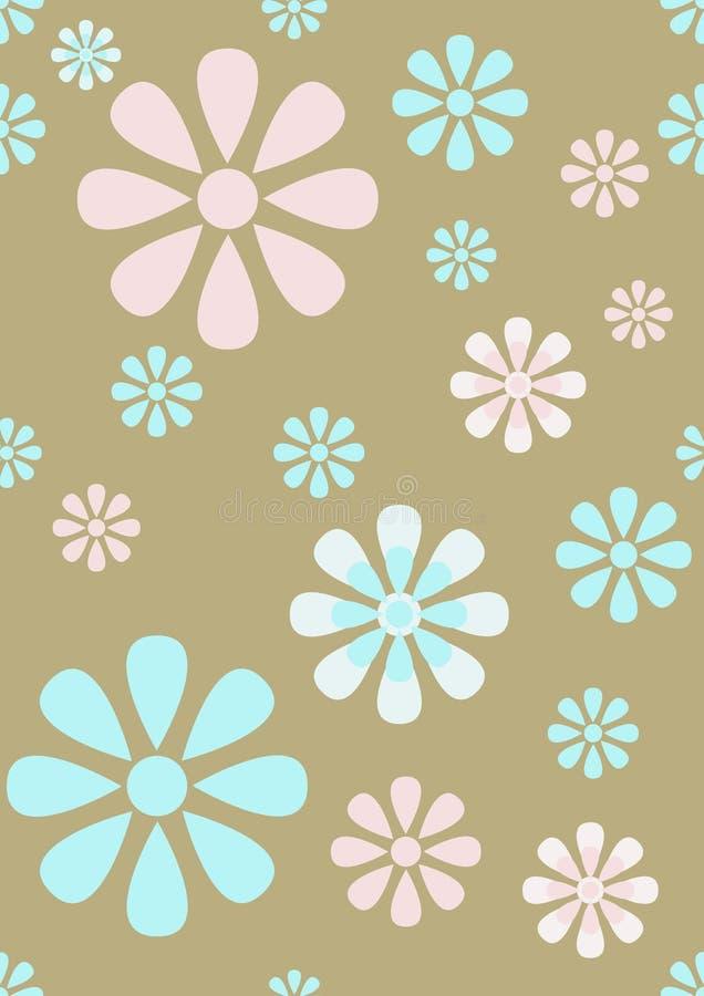 Reticolo senza giunte pastello della carta da parati floreale illustrazione di stock