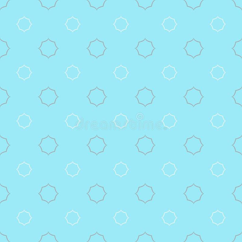 Reticolo senza giunte, tessuto del puntino di Polka illustrazione vettoriale