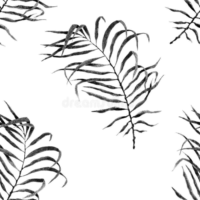 Reticolo senza giunte tropicale watercolor illustrazione di stock