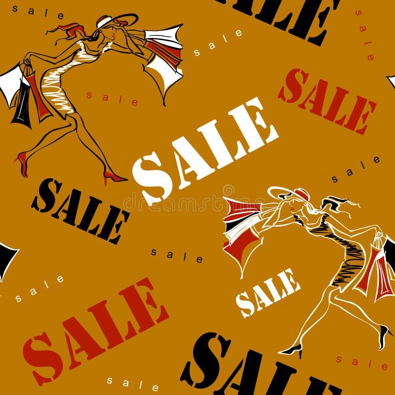 Reticolo senza giunte Vendita Comperando sul sito Ragazze su acquisto La stampa allegra ha dedicato alle vendite ed agli sconti i immagine stock