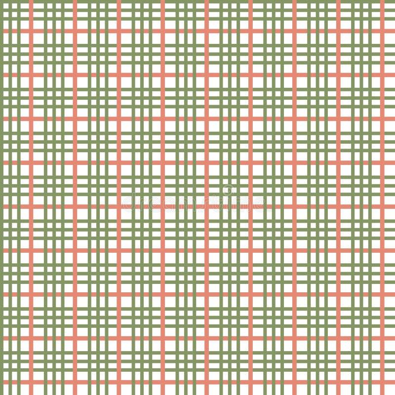 Reticolo senza giunte verde oliva illustrazione di stock