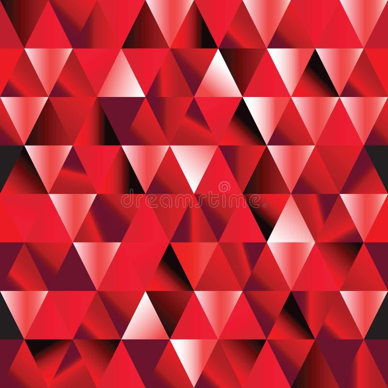 Reticolo senza giunte vermiglio astratto del triangolo. royalty illustrazione gratis