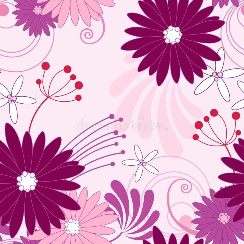Reticolo senza giunte viola floreale royalty illustrazione gratis