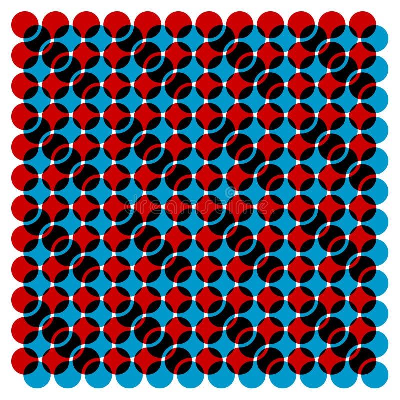 Reticolo stratificato del cerchio illustrazione vettoriale