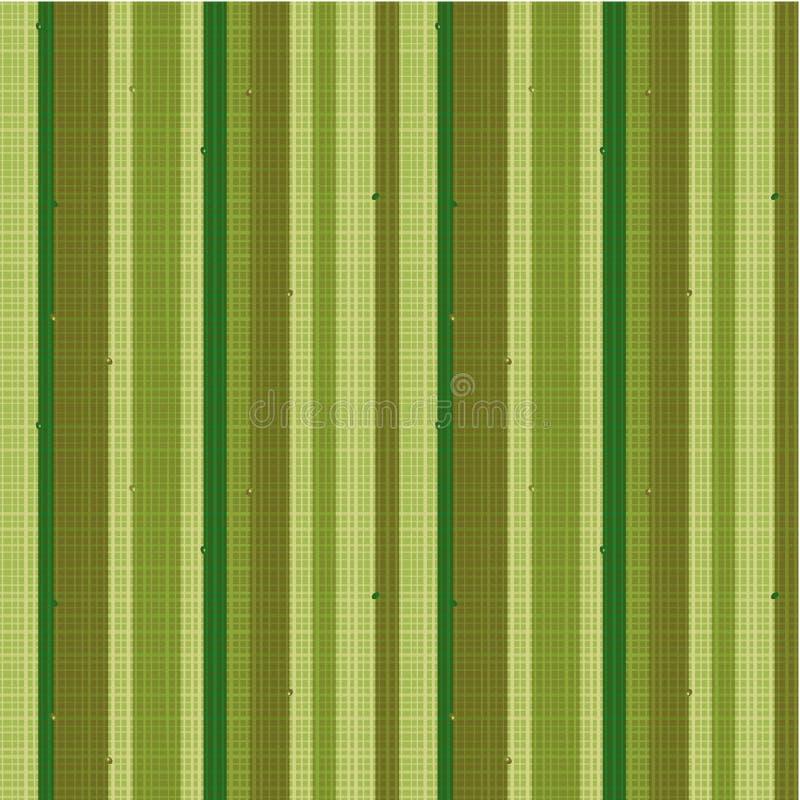 Reticolo a strisce senza giunte del tessuto, verde illustrazione vettoriale