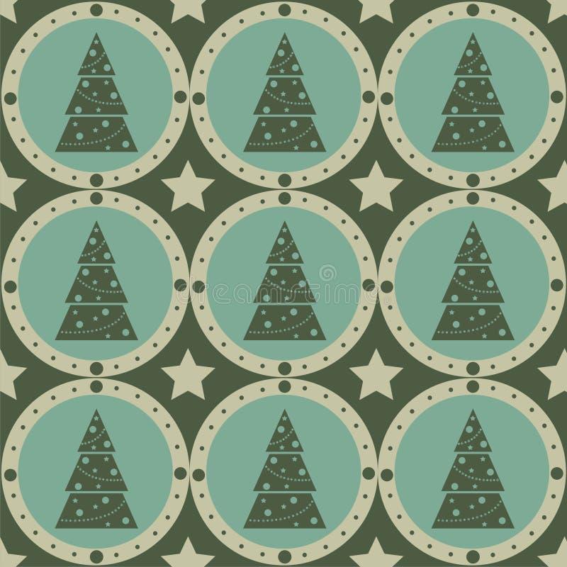 Reticolo sveglio dell'albero di Natale illustrazione di stock