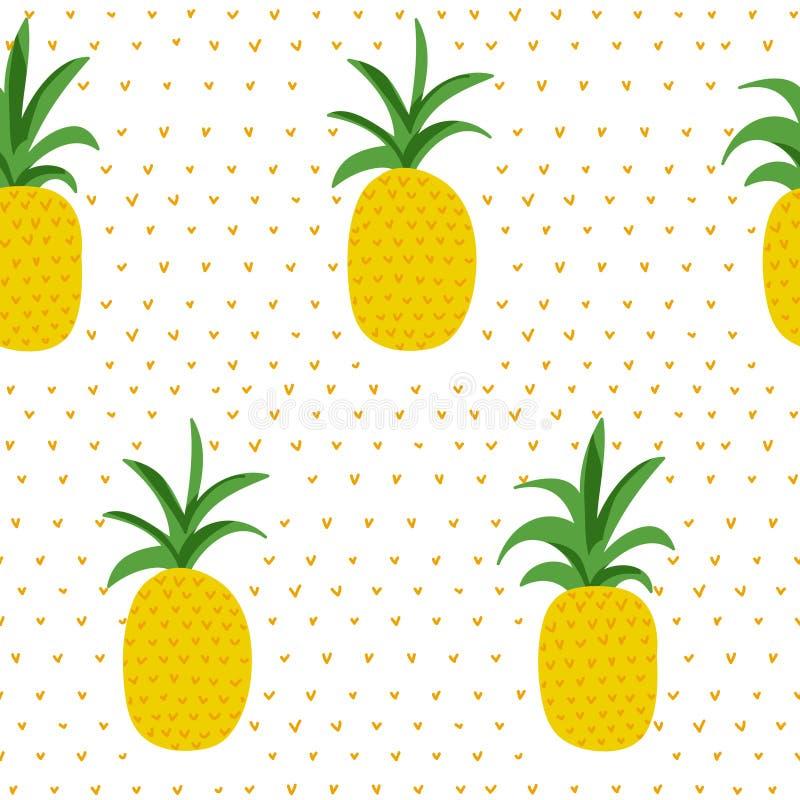 Reticolo tropicale Retro fondo degli ananas royalty illustrazione gratis