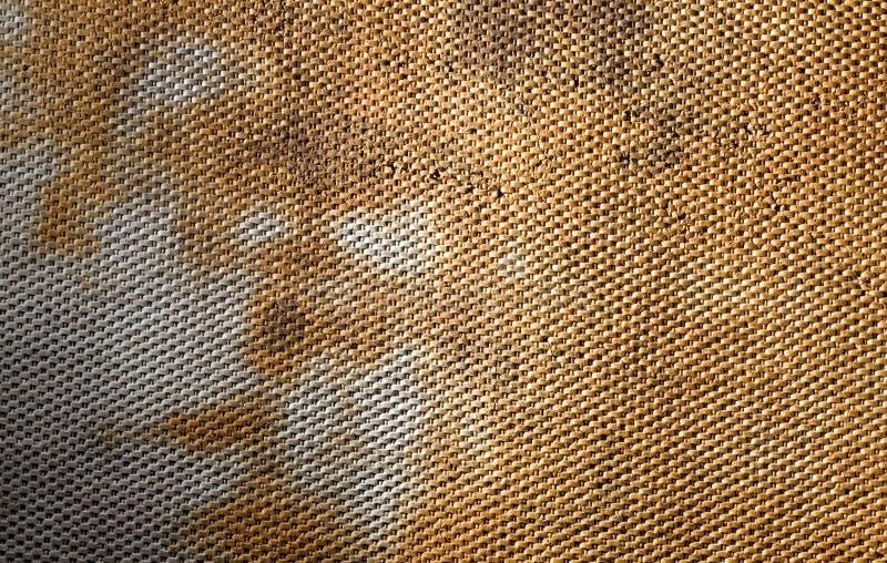 Reticolo usato della coperta della stanza da bagno fotografia stock