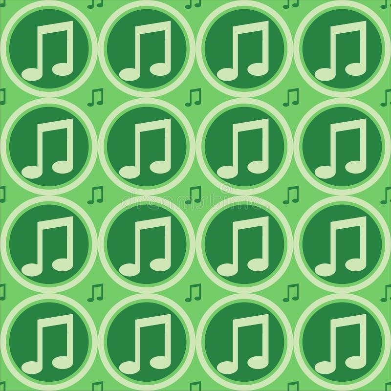 Reticolo verde delle note musicali illustrazione vettoriale
