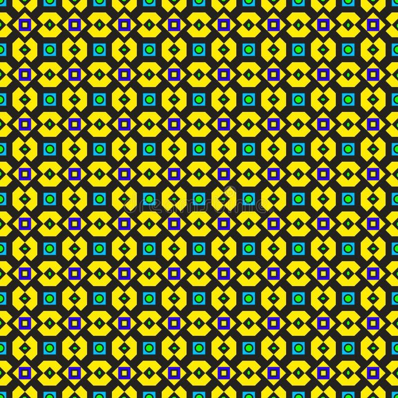 Reticolo verde e giallo decorato royalty illustrazione gratis