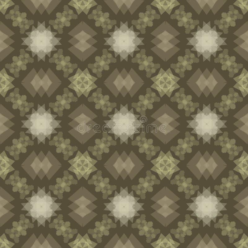 Reticolo verde oliva senza giunte _4 della tabella illustrazione di stock