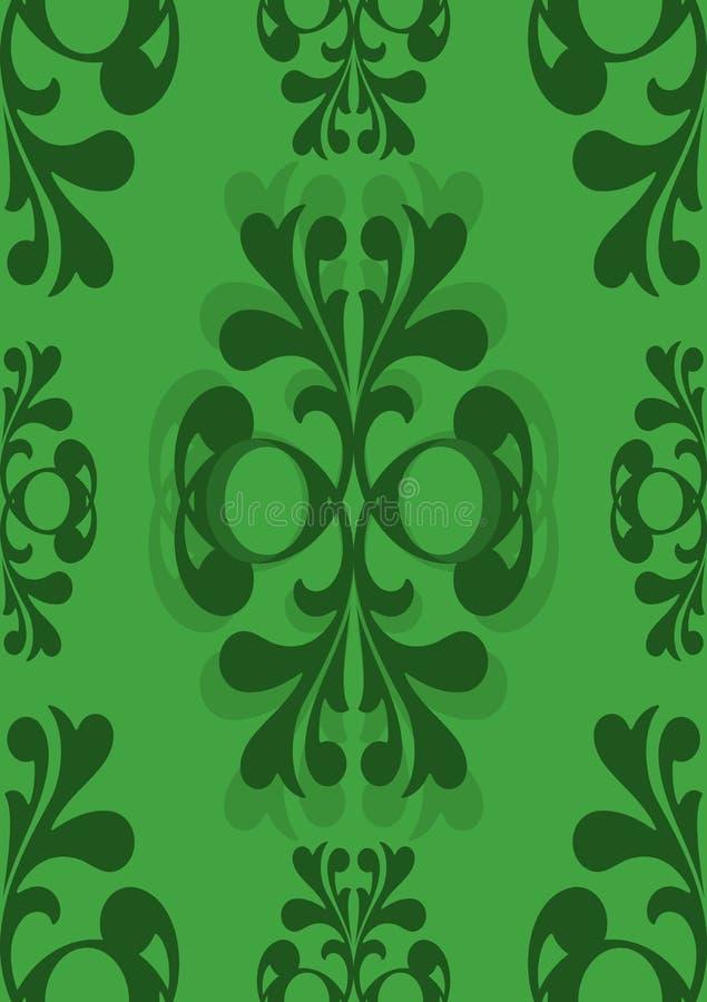 Reticolo verde senza giunte convenzionale di Edwardian royalty illustrazione gratis
