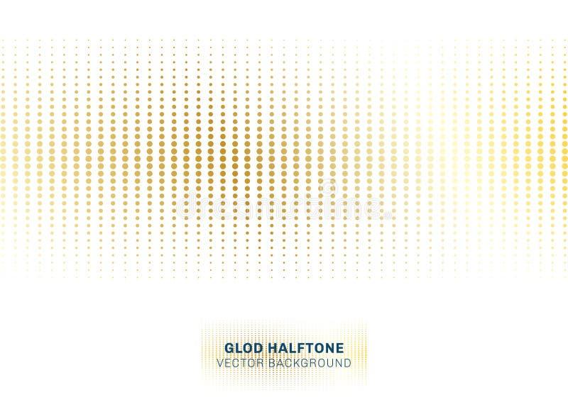 Reticulação abstrata do teste padrão de pontos do ouro no estilo branco do luxo do fundo ilustração do vetor